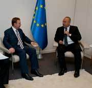 The meeting between the President of PACE Mevlüt Çavuşoğlu and president of the Risk Reduction Vladimir Kosterin