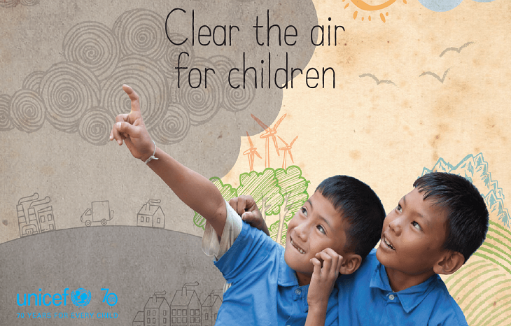 Children breathe in dirty air