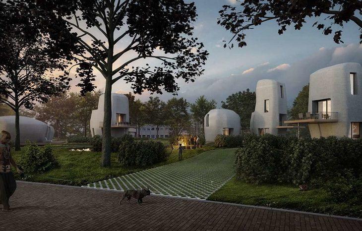 В Нидерландах презентуют первый в мире 3D-печатный жилой дом