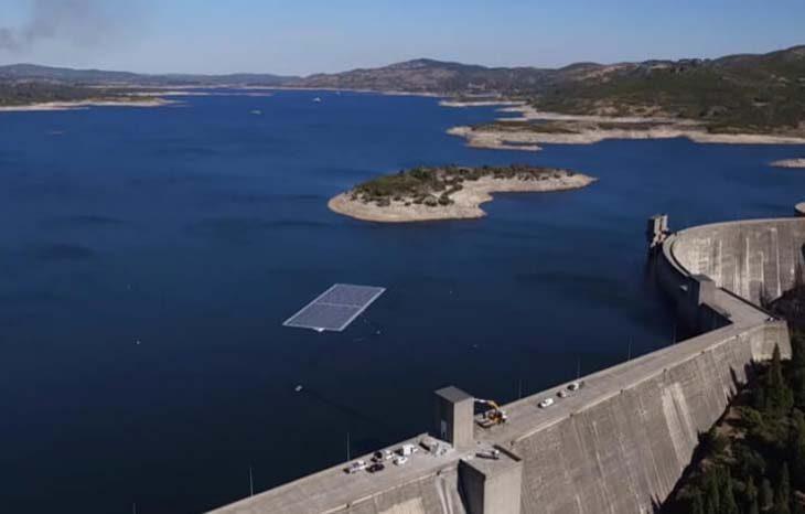 В Португалии открыли первую в мире гидро-солнечную электростанцию