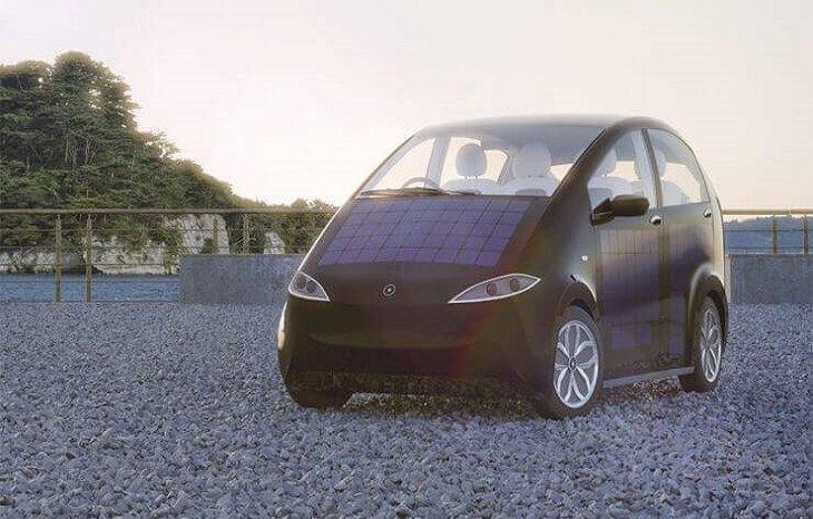 Представлен электрокар на солнечных батареях