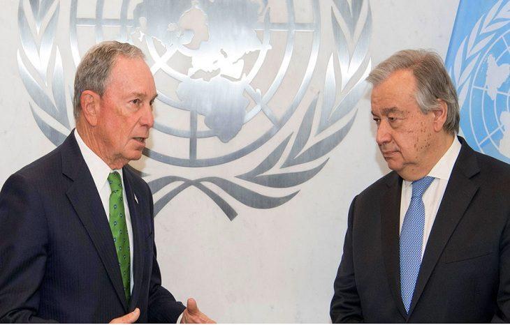 Бывший мэр Нью-Йорка получил пост Спецпосланника ООН по климату