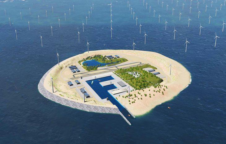 Энергетический остров посреди моря