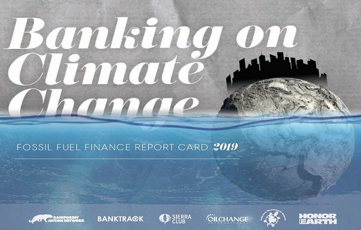Опубликован список банков, поддерживающих развитие ископаемого топлива