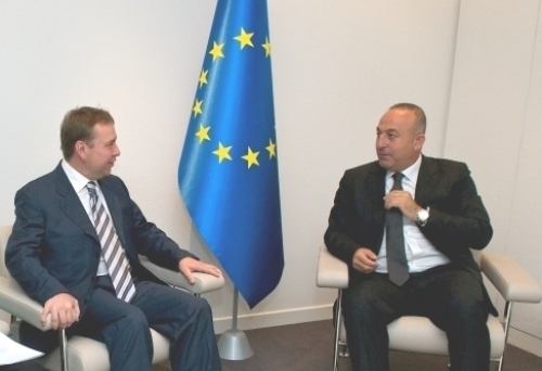Meeting of Vladimir Kosterin with PACE President Mevlut Cavusoglu